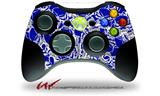 Scattered Skulls Royal Blue - Decal Style Skin fits Microsoft XBOX 360 Wireless Controller (CONTROLLER NOT INCLUDED)