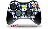 Houndstooth Navy Blue - Decal Style Skin fits Microsoft XBOX 360 Wireless Controller (CONTROLLER NOT INCLUDED)