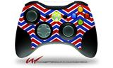 Zig Zag Red White and Blue - Decal Style Skin fits Microsoft XBOX 360 Wireless Controller (CONTROLLER NOT INCLUDED)