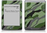 Camouflage Green - Decal Style Skin (fits Amazon Kindle Touch Skin)