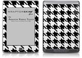 Houndstooth Black and White - Decal Style Skin (fits Amazon Kindle Touch Skin)
