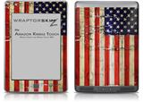 Painted Faded and Cracked USA American Flag - Decal Style Skin (fits Amazon Kindle Touch Skin)