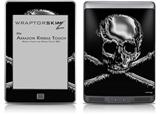 Chrome Skull on Black - Decal Style Skin (fits Amazon Kindle Touch Skin)