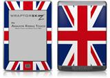 Union Jack 02 - Decal Style Skin (fits Amazon Kindle Touch Skin)