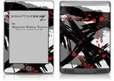 Abstract 02 Red - Decal Style Skin (fits Amazon Kindle Touch Skin)