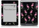 Flamingos on Black - Decal Style Skin (fits Amazon Kindle Touch Skin)