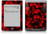 Skulls Confetti Red - Decal Style Skin (fits Amazon Kindle Touch Skin)