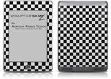 Checkered Canvas Black and White - Decal Style Skin (fits Amazon Kindle Touch Skin)
