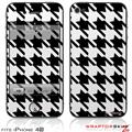 iPhone 4S Skin Houndstooth Black and White