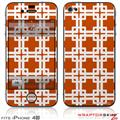 iPhone 4S Skin Boxed Burnt Orange