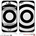 iPhone 4S Skin Bullseye Black and White