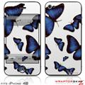 iPhone 4S Skin Butterflies Blue