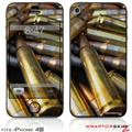 iPhone 4S Skin Bullets