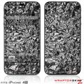 iPhone 4S Skin Aluminum Foil