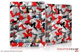 iPad Skin Sexy Girl Silhouette Camo Red (fits iPad 2 through iPad 4)