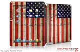 iPad Skin Painted Faded and Cracked USA American Flag (fits iPad 2 through iPad 4)