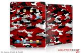 iPad Skin WraptorCamo Digital Camo Red (fits iPad 2 through iPad 4)