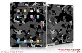 iPad Skin WraptorCamo Old School Camouflage Camo Black (fits iPad 2 through iPad 4)