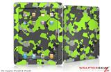 iPad Skin WraptorCamo Old School Camouflage Camo Lime Green (fits iPad 2 through iPad 4)