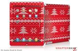 iPad Skin Ugly Holiday Christmas Sweater - Christmas Trees Red 01 (fits iPad 2 through iPad 4)