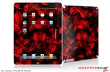 iPad Skin Skulls Confetti Red (fits iPad 2 through iPad 4)