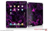 iPad Skin Twisted Garden Purple and Hot Pink (fits iPad 2 through iPad 4)