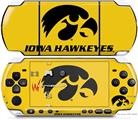 Sony PSP 3000 Decal Style Skin - Iowa Hawkeyes Black on Gold