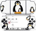 Sony PSP 3000 Decal Style Skin - Penguins on White