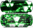 Sony PSP 3000 Decal Style Skin - Radioactive Green