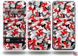 Sexy Girl Silhouette Camo Red Decal Style Vinyl Skin - fits Apple iPod Touch 5G (IPOD NOT INCLUDED)