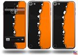 Ripped Colors Black Orange Decal Style Vinyl Skin - fits Apple iPod Touch 5G (IPOD NOT INCLUDED)