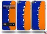 Ripped Colors Blue Orange Decal Style Vinyl Skin - fits Apple iPod Touch 5G (IPOD NOT INCLUDED)