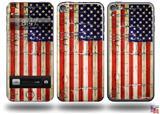 Painted Faded and Cracked USA American Flag Decal Style Vinyl Skin - fits Apple iPod Touch 5G (IPOD NOT INCLUDED)