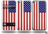 USA American Flag 01 Decal Style Vinyl Skin - fits Apple iPod Touch 5G (IPOD NOT INCLUDED)
