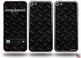 Diamond Plate Metal 02 Black Decal Style Vinyl Skin - fits Apple iPod Touch 5G (IPOD NOT INCLUDED)