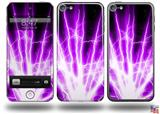 Lightning Purple Decal Style Vinyl Skin - fits Apple iPod Touch 5G (IPOD NOT INCLUDED)