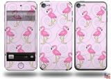 Flamingos on Pink Decal Style Vinyl Skin - fits Apple iPod Touch 5G (IPOD NOT INCLUDED)