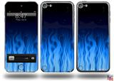 Fire Blue Decal Style Vinyl Skin - fits Apple iPod Touch 5G (IPOD NOT INCLUDED)