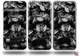 Skulls Confetti White Decal Style Vinyl Skin - fits Apple iPod Touch 5G (IPOD NOT INCLUDED)