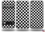 Checkered Canvas Black and White Decal Style Vinyl Skin - fits Apple iPod Touch 5G (IPOD NOT INCLUDED)