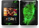 Flaming Fire Skull Green Decal Style Skin fits Amazon Kindle Fire HD 8.9 inch