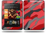 Camouflage Red Decal Style Skin fits Amazon Kindle Fire HD 8.9 inch