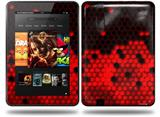 HEX Red Decal Style Skin fits Amazon Kindle Fire HD 8.9 inch