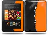 Ripped Colors Black Orange Decal Style Skin fits Amazon Kindle Fire HD 8.9 inch
