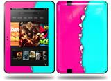 Ripped Colors Hot Pink Neon Teal Decal Style Skin fits Amazon Kindle Fire HD 8.9 inch