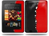 Ripped Colors Black Red Decal Style Skin fits Amazon Kindle Fire HD 8.9 inch
