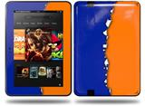 Ripped Colors Blue Orange Decal Style Skin fits Amazon Kindle Fire HD 8.9 inch