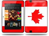 Canadian Canada Flag Decal Style Skin fits Amazon Kindle Fire HD 8.9 inch
