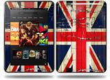 Painted Faded and Cracked Union Jack British Flag Decal Style Skin fits Amazon Kindle Fire HD 8.9 inch