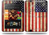 Painted Faded and Cracked USA American Flag Decal Style Skin fits Amazon Kindle Fire HD 8.9 inch